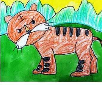 幼儿画老虎图片 儿童画画老虎图片 - 妆达人女性网